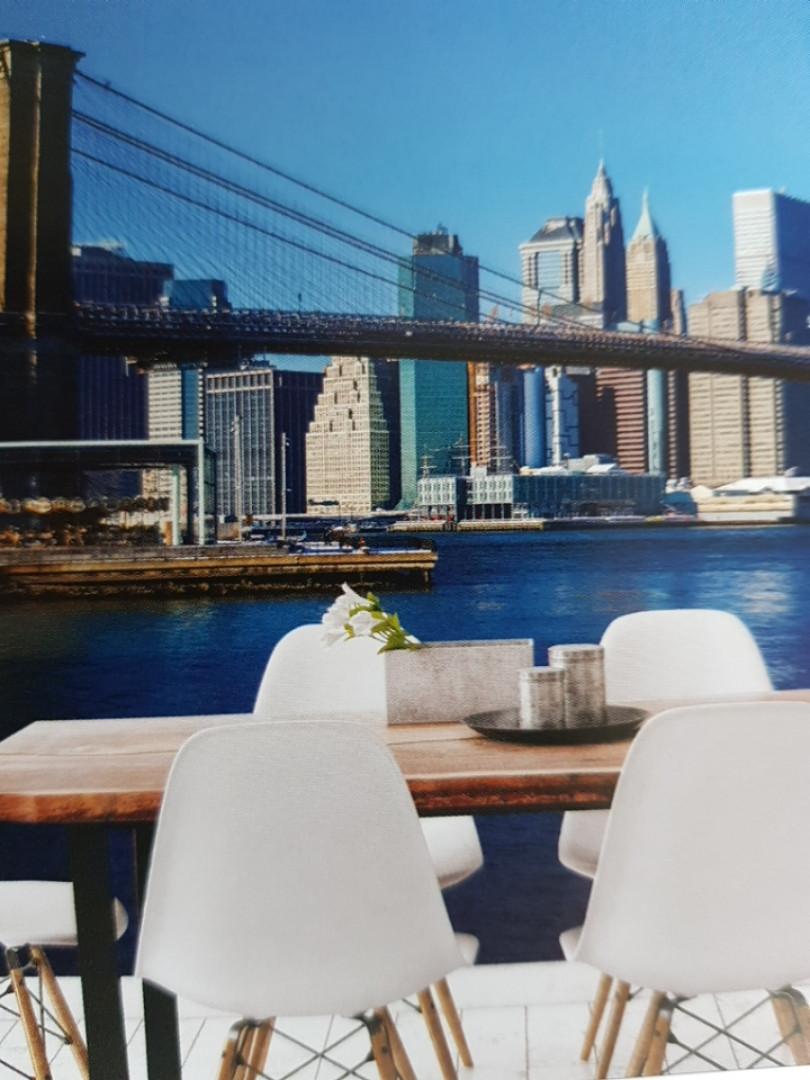 Фотообои виниловые на флизелине расширяющие пространство вид на город мост
