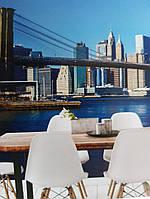 Фотообои виниловые на флизелине расширяющие пространство вид на город мост, фото 1