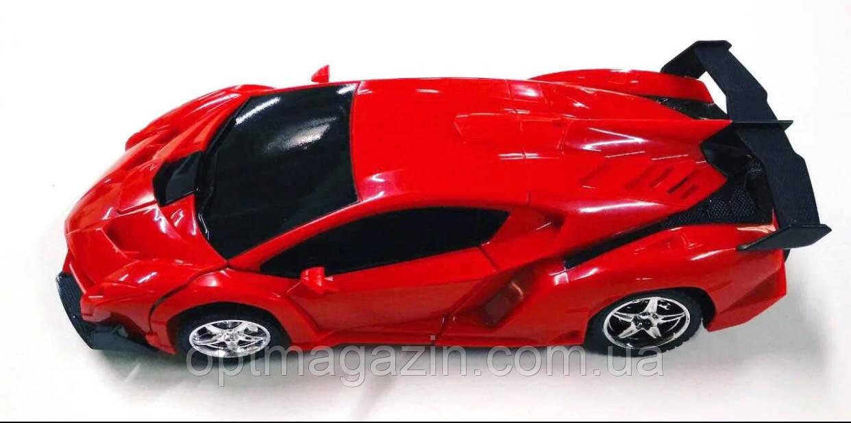 Машинка Трансформер Lamborghini Robot КРАСНАЯ С ПУЛЬТОМ
