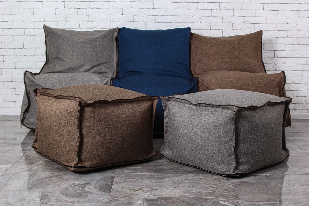 Набор мягкой бескаркасной мебели диван кресло мешок груша