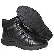 Высокие мужские ботинки на меху черные 44-28.0см45-29.0см
