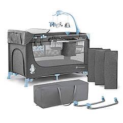 Кровать-манеж с пеленатором Kinderkraft Joy Blue