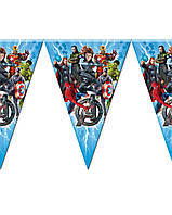 Гірлянди з прапорців Месники Супергерої Марвел