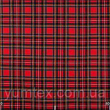 Тканина для штор, скатертин, римських штор, покривал велика клітина червона