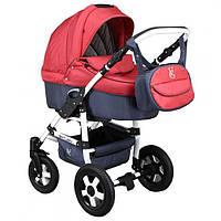 Детская коляска для новорожденных до 3х лет универсальная трансформер 2 в 1 Victoria Gold Saturn 3 Grey/Red