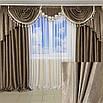 Богатые шторы с ламбрекеном от производителя, фото 4