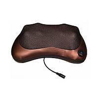 Масажер подушка Aogfy AGF-808 4 ролика (Brown)   Масажна подушка для шиї і спини, фото 2