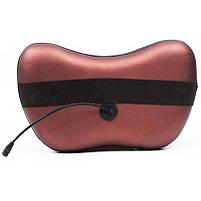 Масажер подушка Aogfy AGF-808 4 ролика (Brown)   Масажна подушка для шиї і спини, фото 3