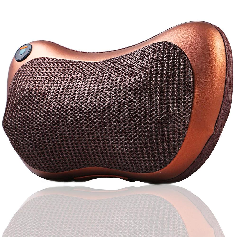 Масажер подушка Aogfy AGF-808 4 ролика (Brown)   Масажна подушка для шиї і спини