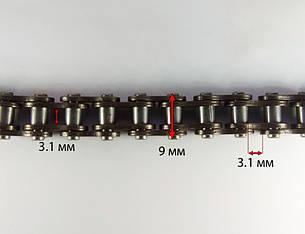 Цепь привода колеса 25H-100F (50 звеньев) звена 6 MINIMOTO MiniATV 49сс, фото 2