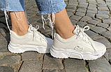 Кросівки зимові жіночі білі, фото 6