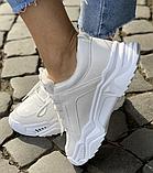 Кросівки зимові жіночі білі, фото 3