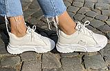 Кросівки зимові жіночі білі, фото 4