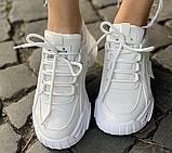Кросівки зимові жіночі білі, фото 8