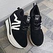 Женские сникерсы кроссовки на платформе, черные, р.36-41, фото 3