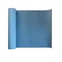 Йога-коврик LiveUP PVC PRINTED YOGA MAT синий