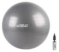 Фитбол с насосом 75см «LiveUp» LS3222-75g ANTI-BURST