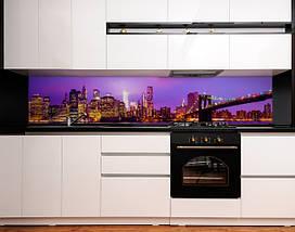 Фартук для кухни ночной город, мост, архитектура Самоклейка 60 x 200 см, фото 3