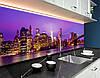 Фартук для кухни ночной город, мост, архитектура Самоклейка 60 x 200 см, фото 2