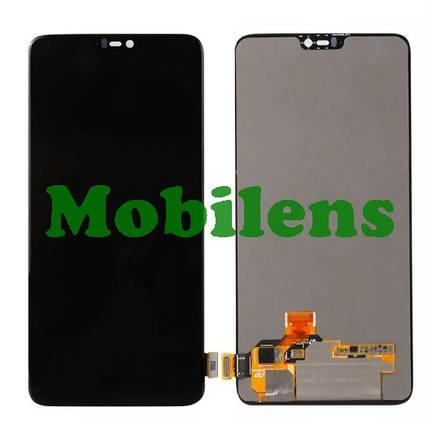 OnePlus 6 Дисплей+тачскрин(модуль) черный Original (AMOLED), фото 2
