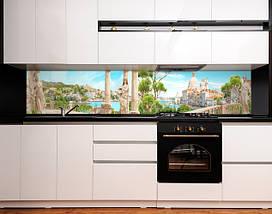 Кухонный фартук для кухни Греция, античный город , статуи, горы, архитектура Самоклейка 60 x 200 см, фото 3