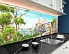 Кухонный фартук для кухни Греция, античный город , статуи, горы, архитектура Самоклейка 60 x 200 см, фото 2