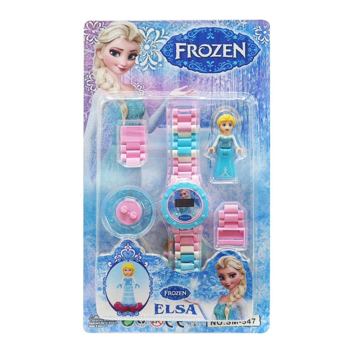 Детский набор Frozen Эльза  с часами