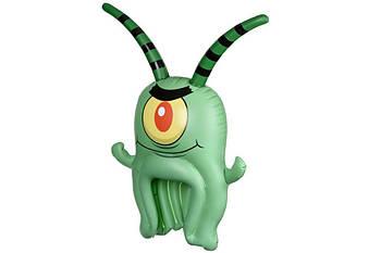 Карнавальный головной убор надувной SpongeBob SpongeHeads  Plankton (EU690604)