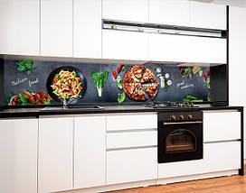 Скинали с фотоизображением Итальянская еда, пицца, паста, овощи Самоклейка 60 x 200 см, фото 2