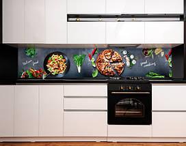 Скинали с фотоизображением Итальянская еда, пицца, паста, овощи Самоклейка 60 x 200 см, фото 3