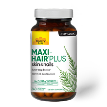 Витамины для волос Maxi-Hair ® Plus, 240 капсул, Country Life, стеклянная банка.