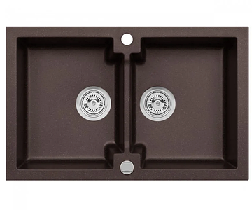 Кухонна мийка з клапаном AXIS HONEST, шоколад, 1.147.120.30