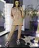 """Женский костюм на флисе """" 777 """",ткань-ткань- трехнитка флис, теплый с капюшоном(42-50)"""