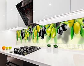 Кухонный фартук оливки, ветки маслины, размытый фон Самоклейка 60 x 200 см, фото 3