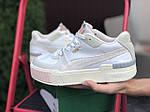 Женские демисезонные кроссовки Puma Cali Sport Mix (бело-бежевые) 9888, фото 4