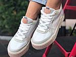Женские демисезонные кроссовки Puma Cali Sport Mix (бело-бежевые) 9888, фото 6