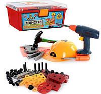 """Игровой набор инструментов в чемодане """"Мастер"""", 48 деталей, 35 х 20 х 16см, 2056"""