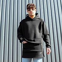Мужское худи South Oversize black, черное худи оверсайз, фото 1