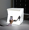 Световой лайткуб (фотобокс) с LED подсветкой для предметной макросъемки 40*40*40см + чехол, фото 2
