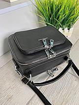 Жіноча сумка Fashion & Bags з велюром чорна СФВ24, фото 2