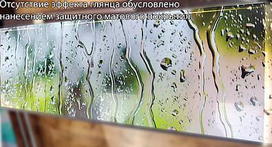 Скинали с фотоизображением капли дождя на стекле, вода, абстракция Самоклейка 60 x 200 см, фото 3