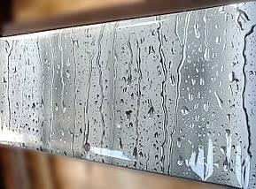Фартук для кухни капли дождя на стекле, вода, серый фон Самоклейка 60 x 200 см, фото 3