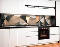 Наклейка на кухню абстракция, триугольные фигуры (Скинали на кухню) Самоклейка 60 x 200 см