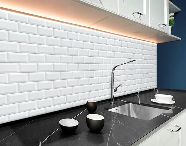 Кухонный фартук белый кирпич, кирпичная стена, кладка Самоклейка 60 x 200 см