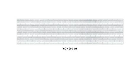 Кухонный фартук белый кирпич, кирпичная стена, кладка Самоклейка 60 x 200 см, фото 3