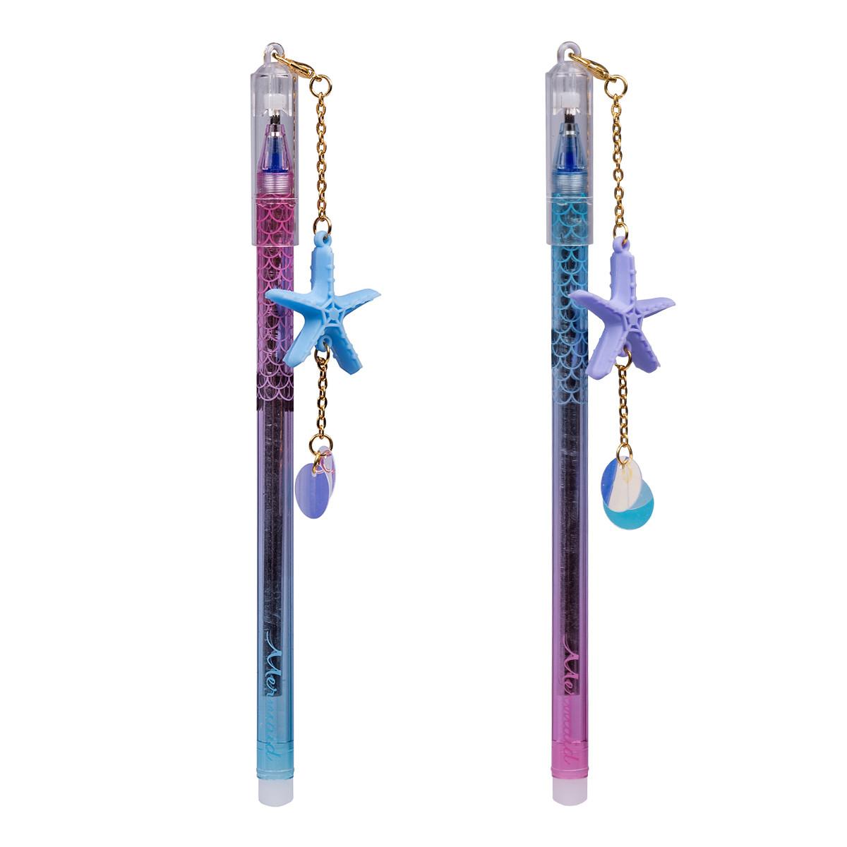 Ручка гелевая YES  пиши-стирай «Mermaid Magic»  0,5 мм, синяя