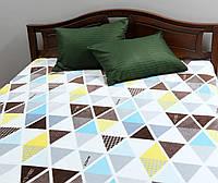 """Плед покрывало на кровать флис """"Треугольники"""" Gtf"""