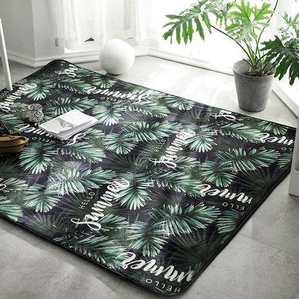 Килим на підлогу для спальні, зала в тропічному стилі