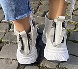 Кроссовки зимние женские бежевые, фото 3