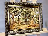 """Картина пейзаж из янтаря """"Дубы """" 20x30 см, фото 3"""